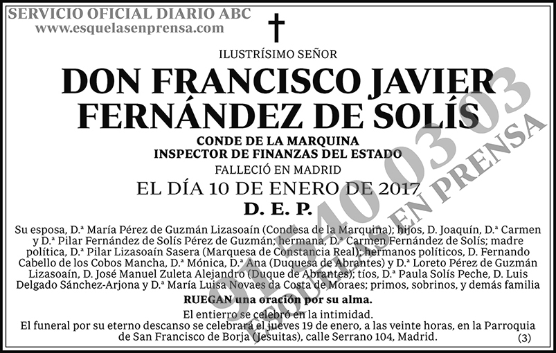 Francisco Javier Fernández de Solís